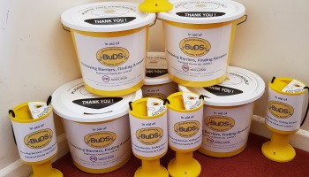 BuDS collection tins and buckets